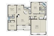 Craftsman Style House Plan - 3 Beds 2 Baths 1550 Sq/Ft Plan #427-5 Floor Plan - Main Floor Plan