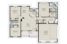 Craftsman Floor Plan - Main Floor Plan Plan #427-5