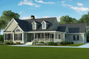 Country Exterior - Front Elevation Plan #929-790