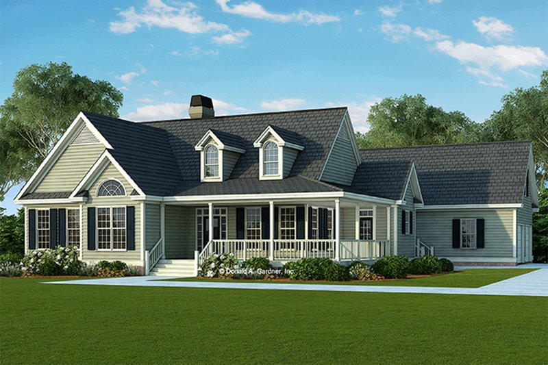 Country Style House Plan - 3 Beds 2 Baths 1873 Sq/Ft Plan #929-790