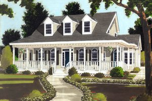 Classical Exterior - Front Elevation Plan #3-289