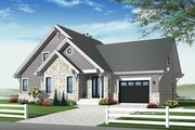 Country Style House Plan - 3 Beds 2.5 Baths 1886 Sq/Ft Plan #23-2562 Exterior - Front Elevation