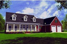 Farmhouse Exterior - Front Elevation Plan #21-155