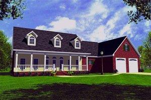 Farmhouse Exterior - Front Elevation Plan #21-155