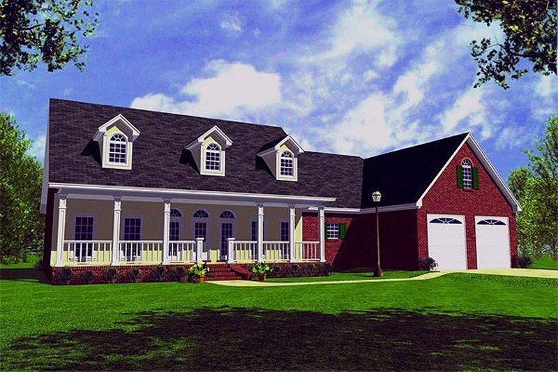 Farmhouse Exterior - Front Elevation Plan #21-155 - Houseplans.com