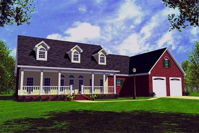 House Plan Design - Farmhouse Exterior - Front Elevation Plan #21-155