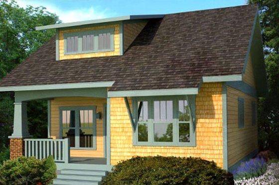 Craftsman Exterior - Front Elevation Plan #461-17