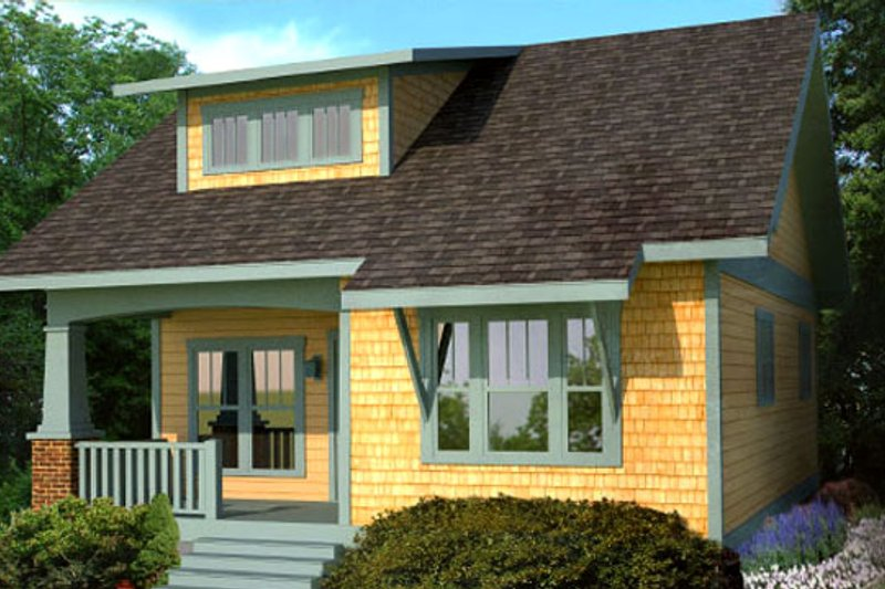 Craftsman Style House Plan - 3 Beds 2.5 Baths 1258 Sq/Ft Plan #461-17