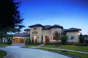 Mediterranean Style House Plan - 5 Beds 5.5 Baths 6834 Sq/Ft Plan #20-2141 Exterior - Front Elevation