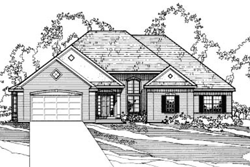 Traditional Exterior - Front Elevation Plan #31-116 - Houseplans.com
