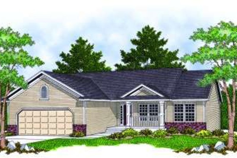 Ranch Exterior - Front Elevation Plan #70-802