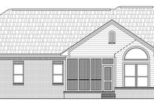 Home Plan - Traditional Exterior - Rear Elevation Plan #21-139