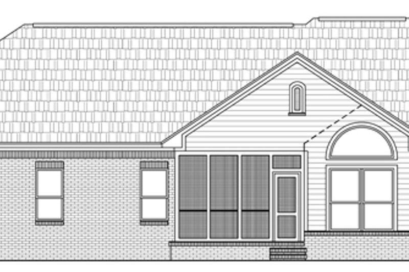 Traditional Exterior - Rear Elevation Plan #21-139 - Houseplans.com