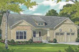 Craftsman Exterior - Front Elevation Plan #453-64