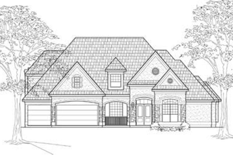 European Exterior - Front Elevation Plan #61-146