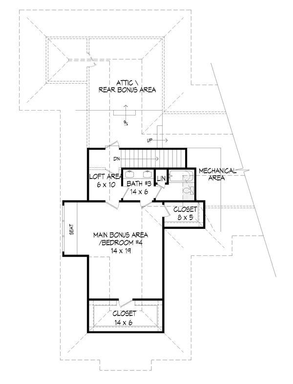 Country Floor Plan - Upper Floor Plan Plan #932-289