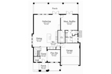 Mediterranean Floor Plan - Main Floor Plan Plan #1058-78