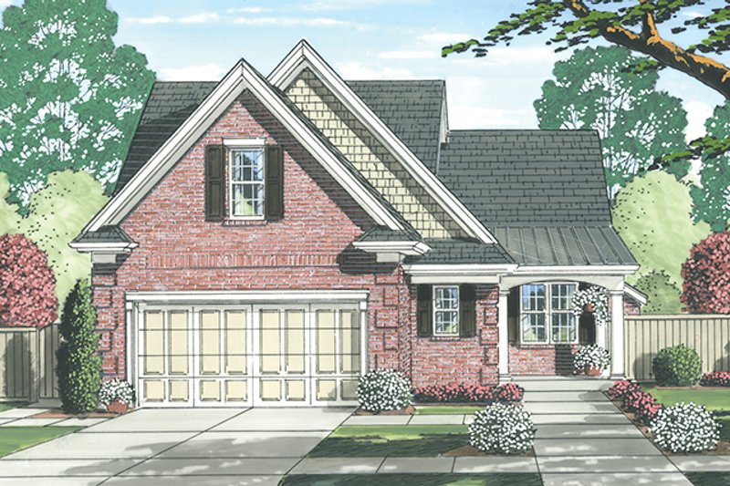 Colonial Exterior - Front Elevation Plan #46-843
