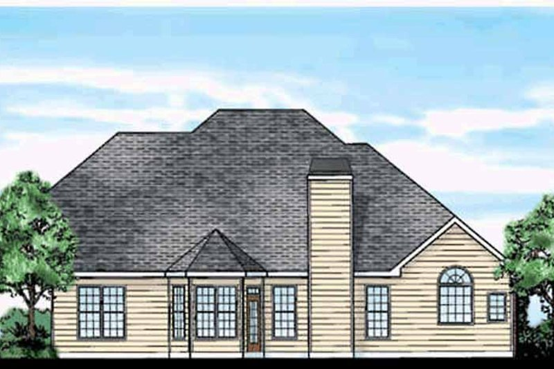 Country Exterior - Rear Elevation Plan #927-685 - Houseplans.com