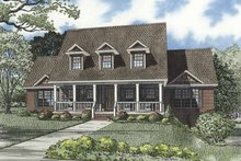 Home Plan - Country Exterior - Front Elevation Plan #17-3273