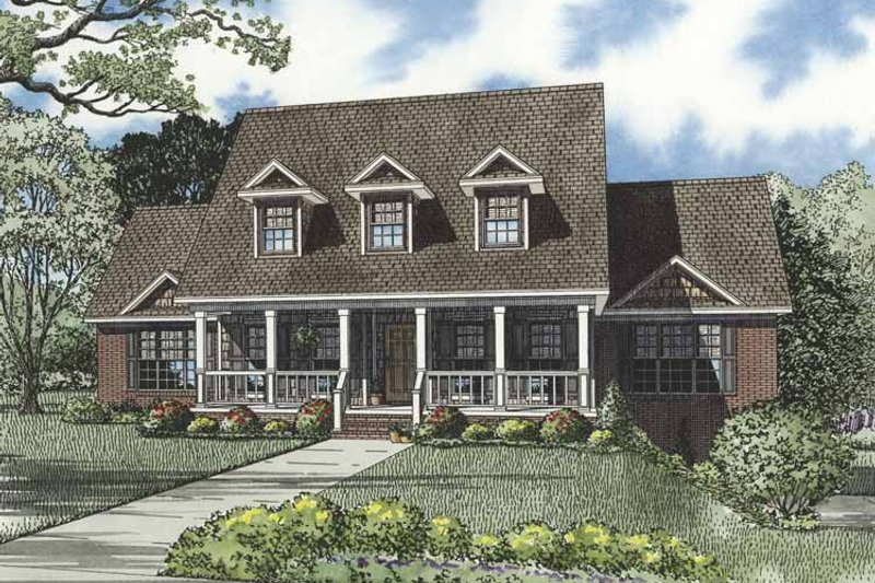 Architectural House Design - Country Exterior - Front Elevation Plan #17-3273