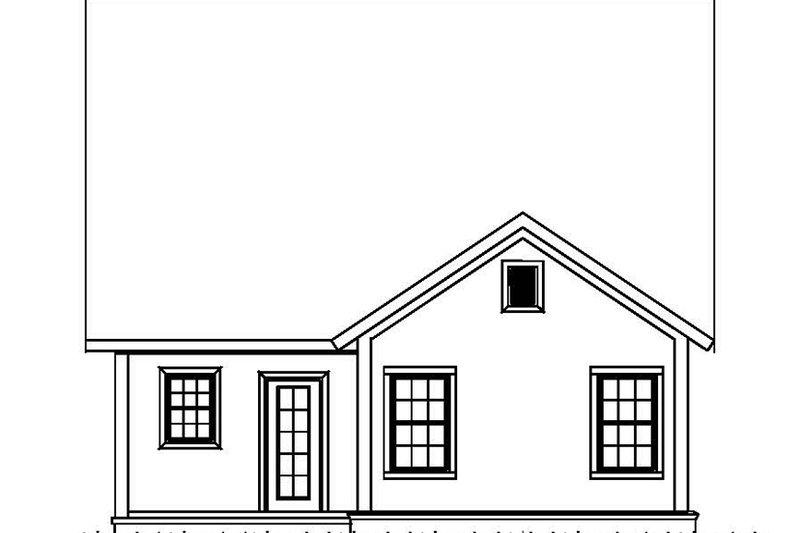 Country Exterior - Rear Elevation Plan #513-2163 - Houseplans.com