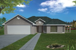Architectural House Design - Ranch Exterior - Front Elevation Plan #1061-11
