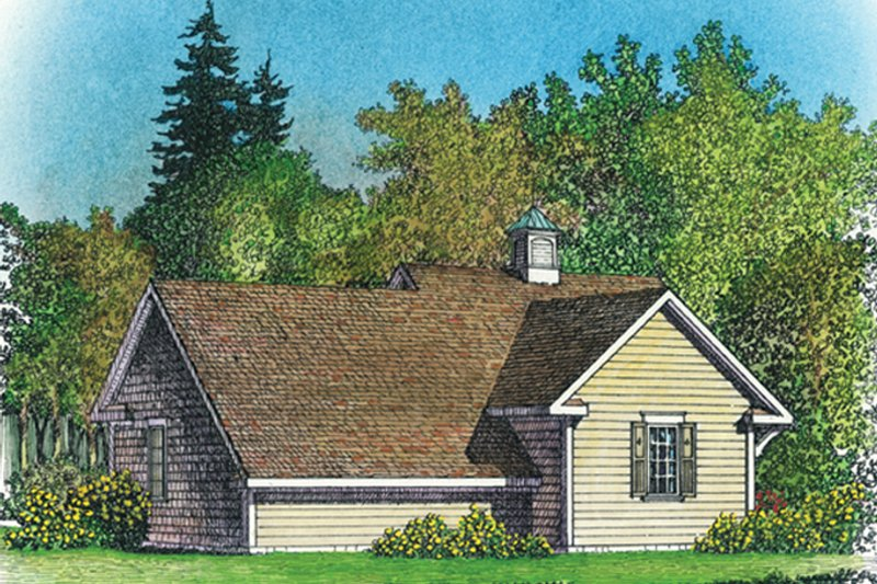 Colonial Exterior - Rear Elevation Plan #1016-103 - Houseplans.com