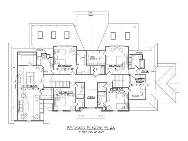 Dream House Plan - European Floor Plan - Upper Floor Plan #1054-76