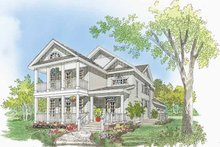 Country Exterior - Front Elevation Plan #929-518