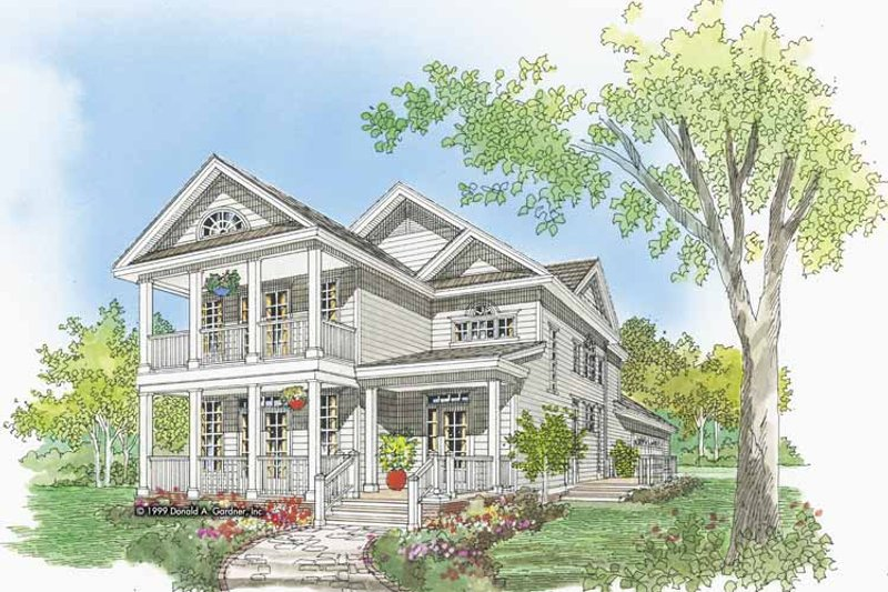 Country Exterior - Front Elevation Plan #929-518 - Houseplans.com