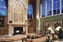 Mediterranean Interior - Family Room Plan #417-557