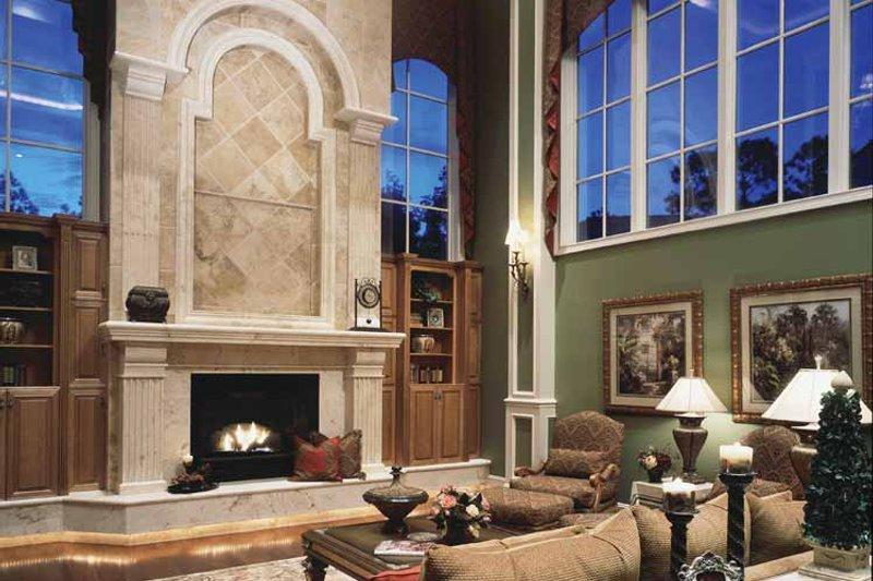 Mediterranean Interior - Family Room Plan #417-557 - Houseplans.com