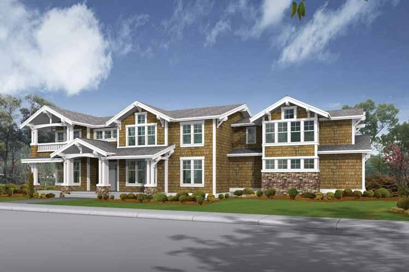 Architectural House Design - Craftsman Exterior - Front Elevation Plan #132-480