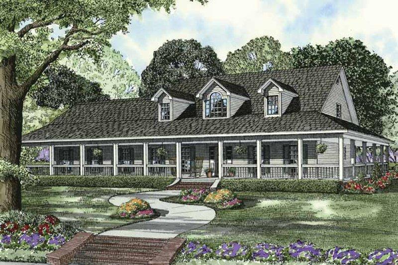 Colonial Exterior - Front Elevation Plan #17-2936