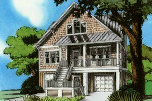 Architectural House Design - Country Exterior - Front Elevation Plan #991-19