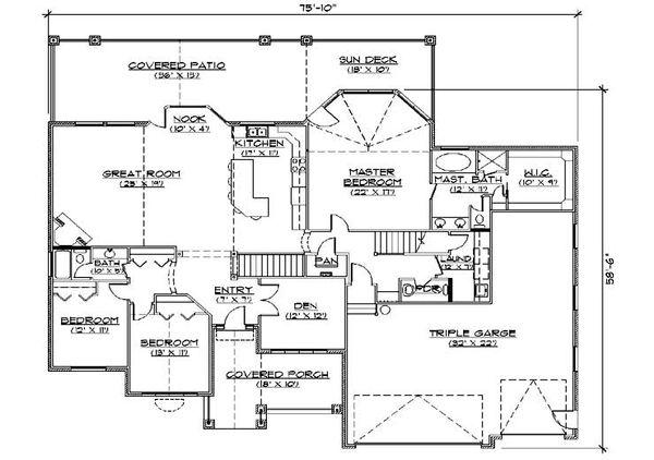 European Floor Plan - Main Floor Plan Plan #5-376