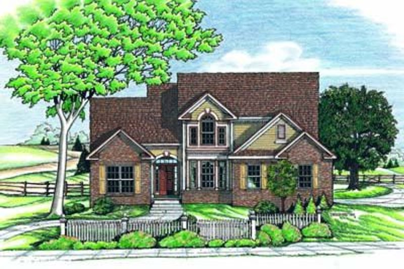 Home Plan Design - Traditional Exterior - Front Elevation Plan #20-527