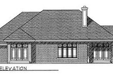 Dream House Plan - Traditional Exterior - Rear Elevation Plan #70-373