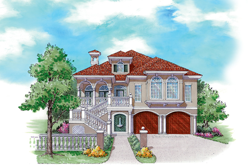 Mediterranean Exterior - Front Elevation Plan #930-158
