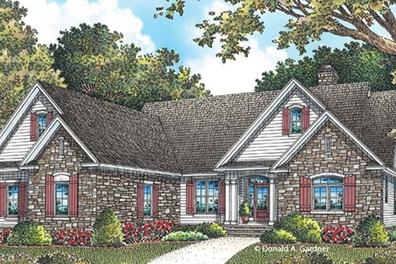 Traditional Exterior - Front Elevation Plan #929-959 - Houseplans.com
