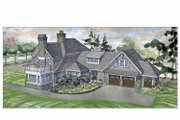 Craftsman Style House Plan - 4 Beds 3.5 Baths 3888 Sq/Ft Plan #928-239 Exterior - Rear Elevation