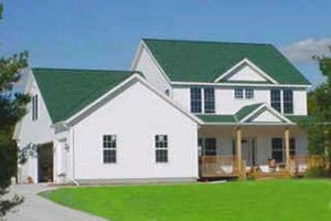 Country Exterior - Front Elevation Plan #49-113