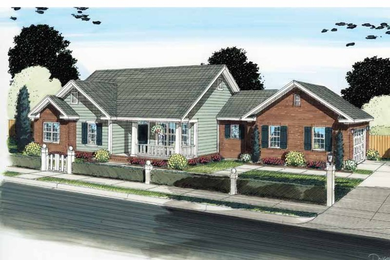 Traditional Exterior - Front Elevation Plan #513-2121 - Houseplans.com