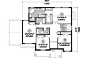 Traditional Style House Plan - 3 Beds 2 Baths 3095 Sq/Ft Plan #25-4499 Floor Plan - Upper Floor Plan