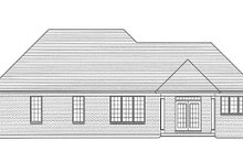 Cottage Exterior - Rear Elevation Plan #46-844