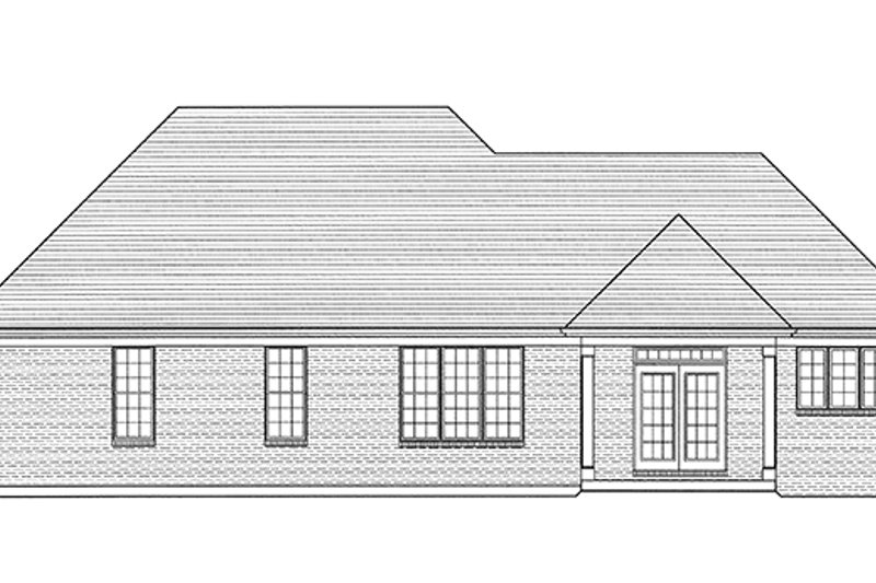 Cottage Exterior - Rear Elevation Plan #46-844 - Houseplans.com