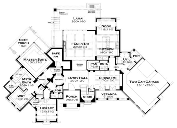 Cottage Floor Plan - Other Floor Plan Plan #120-244