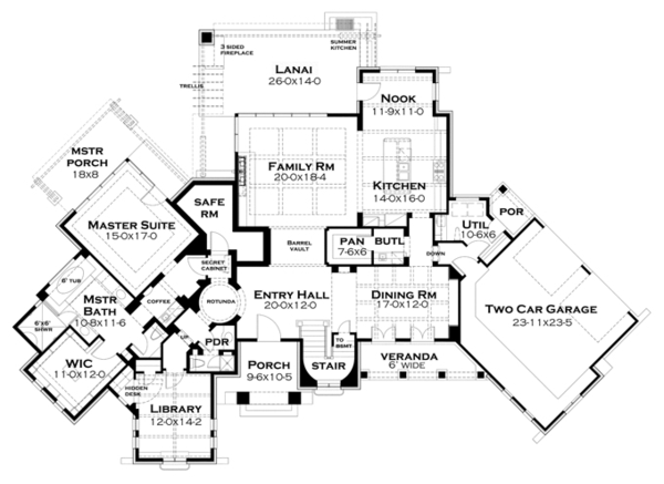 Cottage Floor Plan - Other Floor Plan Plan #120-244