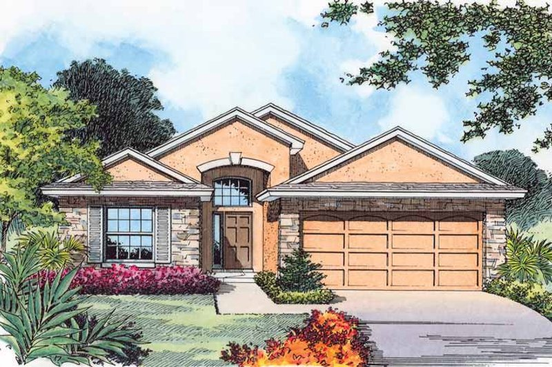 Country Exterior - Front Elevation Plan #1015-27 - Houseplans.com